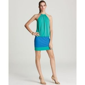 Laundry by Shelli Segal Green Blouson Dress B4K